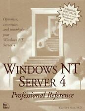 Windows Nt Server 4 Professional Reference Siyan, Karanjit S., Phd Hardcover