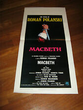 LOCANDINA,MACBETH Roman Polanski William Shakespeare,Finch Annis 1972