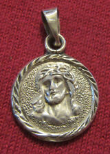 Vintage Catholic Religious Holy Medal - 925 STERLING SILVER - ECCE HOMO