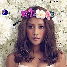 Women flower Fairy Butterfly Purple wedding Party Hair Headband Crown Garland