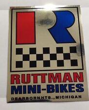 Ruttman Mini Bike Decal
