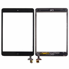 For iPad mini 1/2 Touch Glass Digitizer Screen Replacement IC Home Button Black