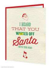 Brainbox Candy Rude 'Santa W*nk' Christmas Xmas Card funny cheeky humour joke