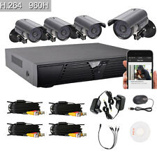 4PCS 800TVL Outdoor 8CH CCTV 960H DVR Video Security Night Vision Camera System
