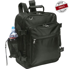 Black Motorcycle Trunk Sissy Bar Bag Backpack Rear Hook Water Bottle Holder Book