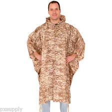 rain poncho desert digital camo waterproof rip stop fox outdoor 21-556