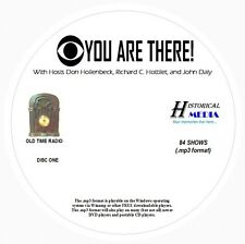 YOU ARE THERE - 84 Shows Old Time Radio In MP3 Format OTR On 2 CDs
