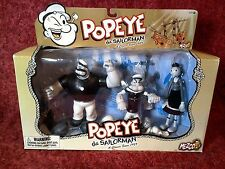 mezco BLACK AND WHITE POPEYE SET fao schwarz exclusive figures toy