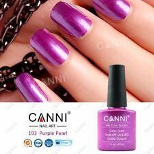 193 PURPLE GLITTERY PEARL VIOLET UV LED SOAK OFF GEL COLORS NAIL ART UK SELLER