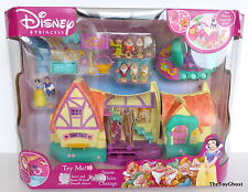 DISNEY PRINCESS POLLY POCKET** SNOW WHITE COTTAGE **MISB