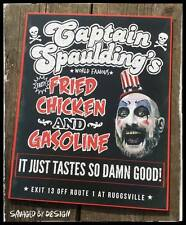 CAPTAIN SPAULDING'S FRIED CHICKEN AND GASOLINE SIGN FROM HOUSE OF 1000 CORPSES