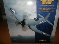 CORGI AVIATION VOUGHT F4U-1 CORSAIR WHITE 7 1:72