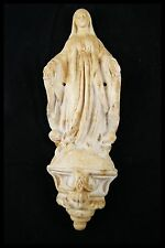 † 18-19TH BVM MEERSCHAUM VIRGIN MARY IMMACULATE CONCEPTION RELIQUARY STATUE †