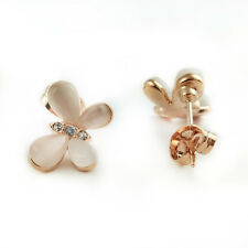 Fashion Jewelry - 18k Rose Gold Plated Butterfly Stud Earrings (FE443)