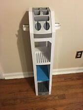WII GAMING TOWER VIDEO GAME STORAGE MEDIA RACK CONSOLE ORGANIZER STAND WHITE
