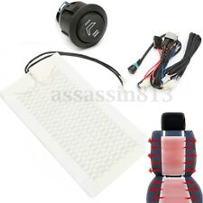 Universal Carbon Fiber Car 2PCS Seat Heated Heater Pad Round Switch Kit Truck
