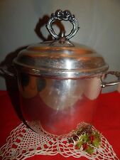 """New listing Vintage 10"""" by. Leonard Silver Plate Ice Bucket with milk glass insert"""