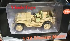 American Diorama 1/18 Army Jeep Vehicle  WWII US Army Desert Color AD-77408