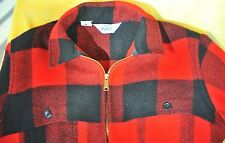Woolrich red plaid buffalo check wool coat jacket like filson Made in the USA