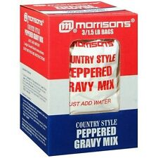 4.5 Pounds Morrisons Country Style Peppered White Gravy Sauce Base Mix 1.5 x 3