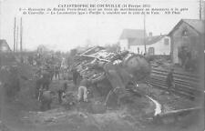 CPA 28 CATASTROPHE DE COURVILLE 1911 RENCONTRE DU RAPIDE PARIS BREST (GROS PLAN