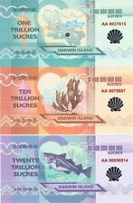 Darwin Island set 7 banknotes 2015 Silver shell UNC (private issue)