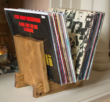 Vinyl Record Storage, LP /  7 Inch Single, Record Flip Display Rack - Wooden
