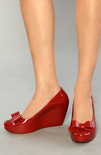 Melissa Mel High Heels Vivienne Westwood Ladies Shoes Pumps Size 5 38 Red Wedges