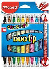 MAPED Color 'scontrino Duo Pennarelli Doppia Punta Da Colorare fine medio-Pack 10