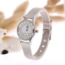 New Women's Watch Luxury Rhinestone Stainless Steel 12Quartz Wrist Watches