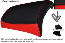 RED AND BLACK CUSTOM R 1200 GS FITS BMW REAR PASSANGER 04-12 LEATHER SEAT COVER
