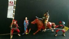 Plastoy Japanese Figures Warrior 5 PC lot Shogun Wife Samurai Cavalry Ninja Pike