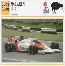 1984-1986 McLAREN MP4/2 Racing Classic Car Photo/Info Maxi Card