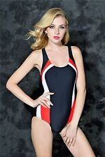 Women Swimming Suits Sportswear for Athletes U Neck Colorful One-Piece ITC308.