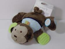 New Carter's Plush Squeaker Crinkle Rattle Teether MONKEY Cuddle & Play Pal Toy