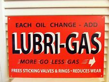 Vintage Lubri Gas Station Sign Lube Oil Filter Black & Orange Garage Gift