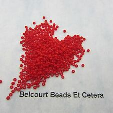 25 Grams Opaque Light Red  Size 10/0 Czech Glass Preciosa Seed Beads
