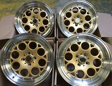 "16"" ST6 GOLD MACHINED ALLOY WHEELS 4X100 VOLKSWAGEN VW GOLF & POLO MK2 MK3"