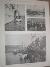 Printed photos arrival ex President Kruger South Africa Marseille France 1900