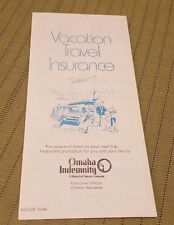 1970's MUTUAL OF OMAHA Unused Vacation Travel Insurance Application