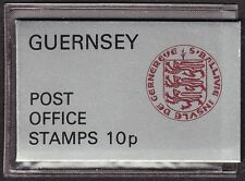 GB Guernsey, 10p booklet, 3 x 2.5p and 5 x 0.5p, in original plastic holder.