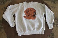 """VTG 1980s Fruit of the Loom Dachsund """"Max"""" sweatshirt Men's Medium Weiner Dog"""