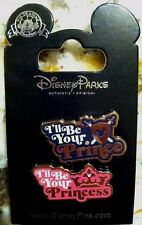 AUTHENTIC Disney Pins  I'll be your Prince I'll be your Princess 2 pin set 2016