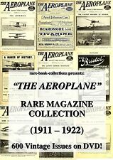 AEROPLANE MAGAZINE - 600 RARE ISSUES (1911-1922) DVD - WORLD WAR 1 AIRPLANES WW1