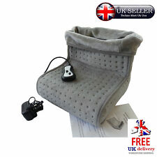 Foot Massager Warmer Heated Electric Vibration Fleece Lining Relaxing Revitalise