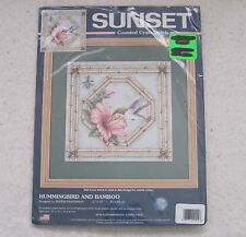 HUMMINGBIRD AND BAMBOO - Sunset Dimensions Counted Cross Stitch Kit NEW