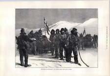 1876 NORTH POLE Expedition Western Sledge Festa in procinto di iniziare