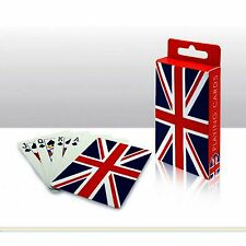 UNION JACK DESIGNED PLASTIC COATED PLAYING CARDS  LONDON SOUVENIR GIFT