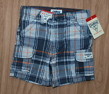 Oshkosh~USA~Gr.80~Shorts~kurze Hose~kariert~Sommer~grau-orange~Amerika~18 Monate