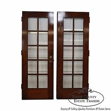 Vintage Pair of Mahogany Double French Doors (D)